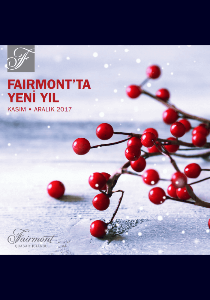 Fairmont Quasar İstanbul Yılbaşı 2018
