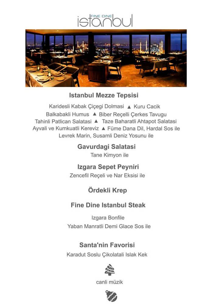 Fine Dine İstanbul Yılbaşı Programı 2020