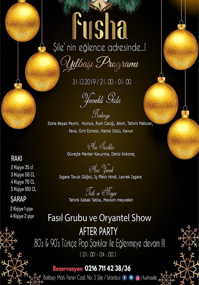 Fusha Şile Yılbaşı Programı 2020