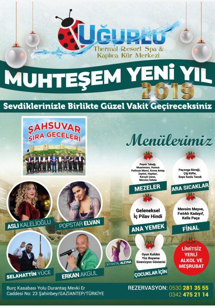 Gaziantep Uğurlu Termal Otel 2019 Yılbaşı Programı