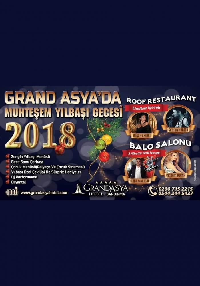 Grand Asya Hotel Bandırma Yılbaşı 2018