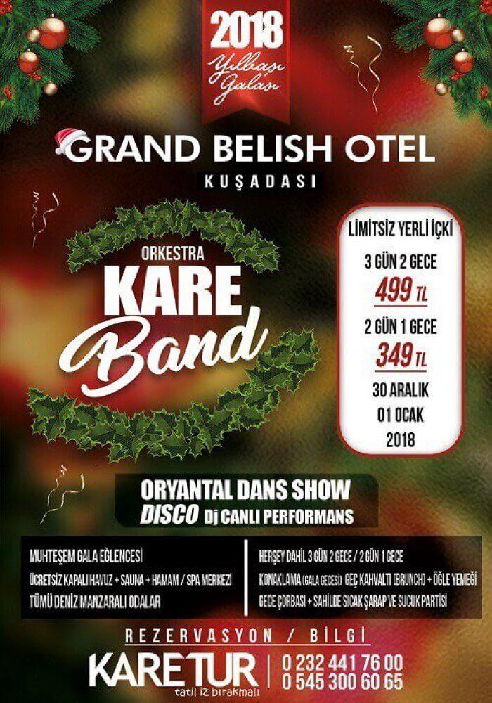 Grand Belish Hotel Yılbaşı 2018