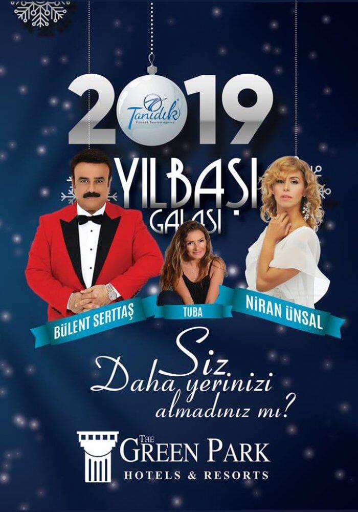 Green Park Hotel Ankara 2019 Yılbaşı Programı