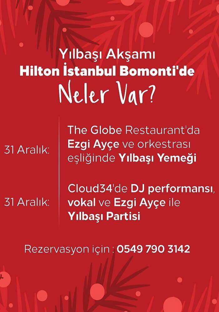 Hilton İstanbul Bomonti Hotel Yılbaşı Programı 2020