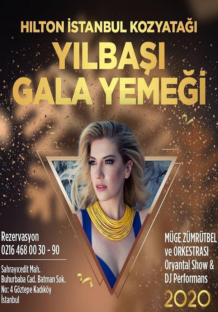 Hilton İstanbul Kozyatağı Yılbaşı Programı 2020