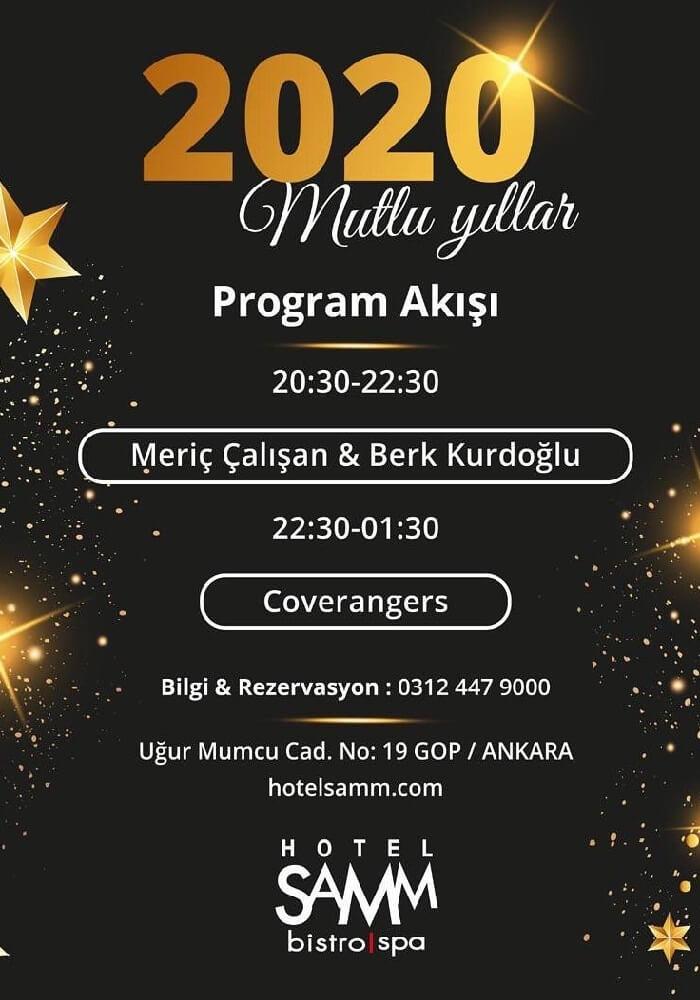 Hotel Samm Ankara Yılbaşı Programı 2020