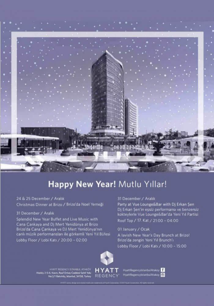 Hyatt Regency Istanbul Ataköy Yılbaşı 2018