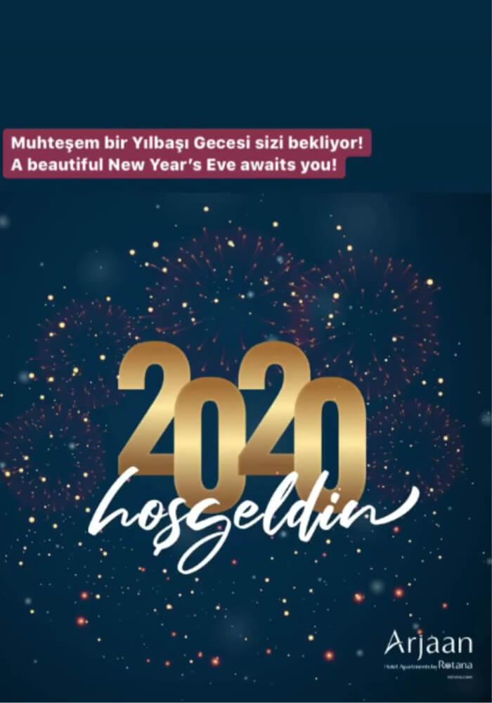 İstanbul Burgu & Tango Arjaan by Rotana Yılbaşı Programı 2020