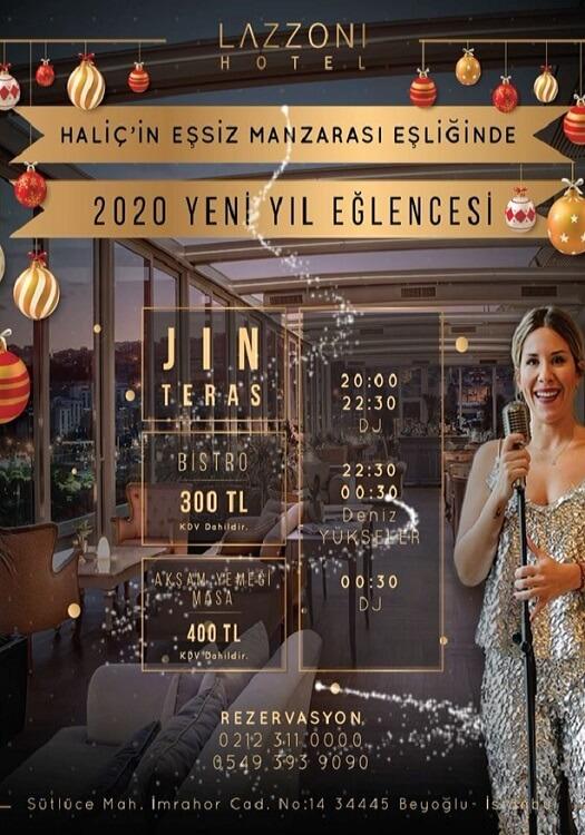 İstanbul Lazzoni Hotel Yılbaşı Programı 2020