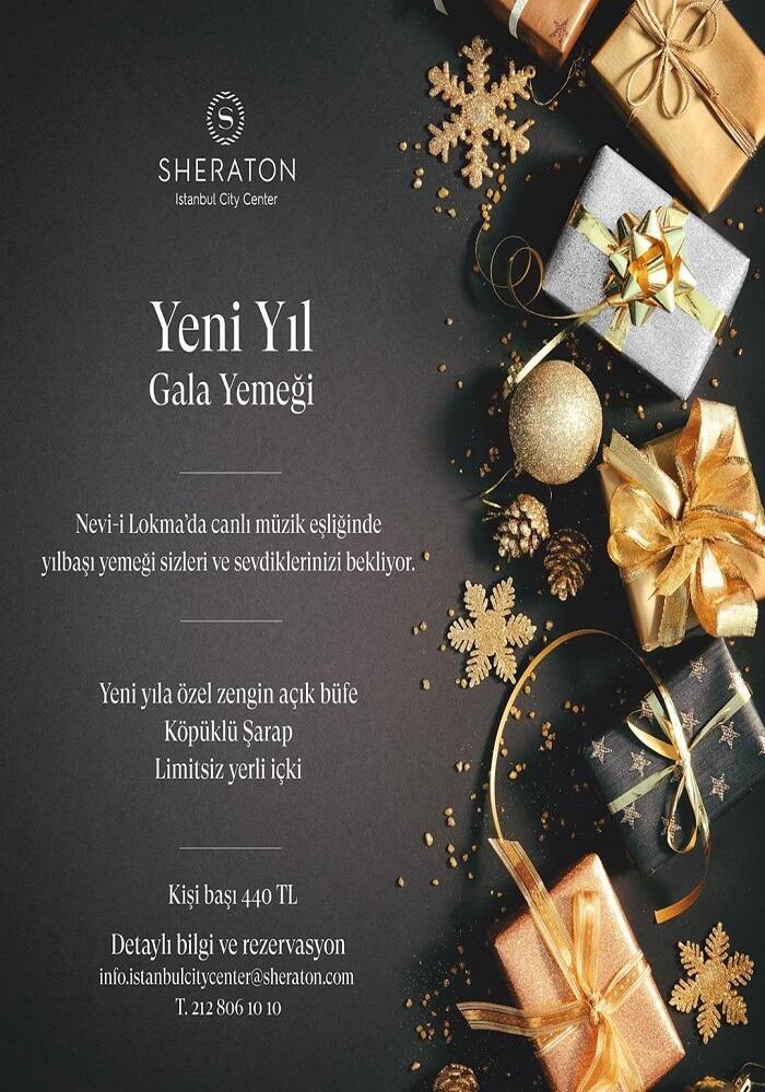 İstanbul Sheraton City Center Hotel Yılbaşı Programı 2020