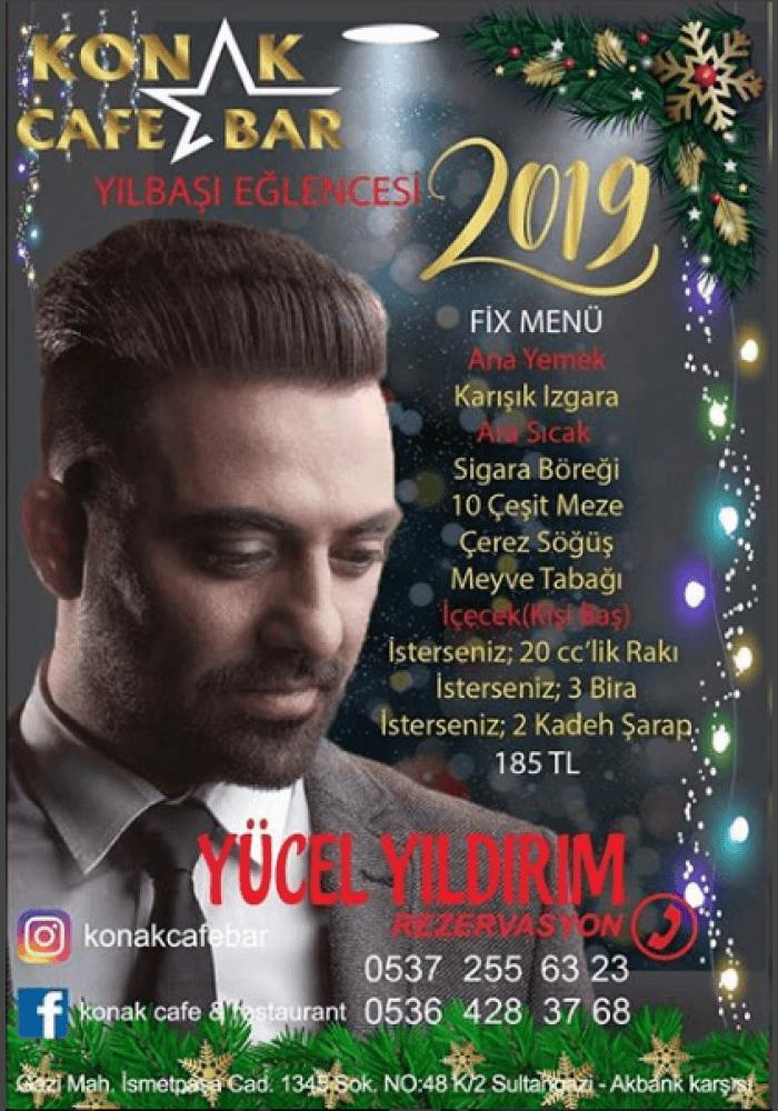 İstanbul Sultangazi Konak Cafe Bar Yılbaşı Programı 2019