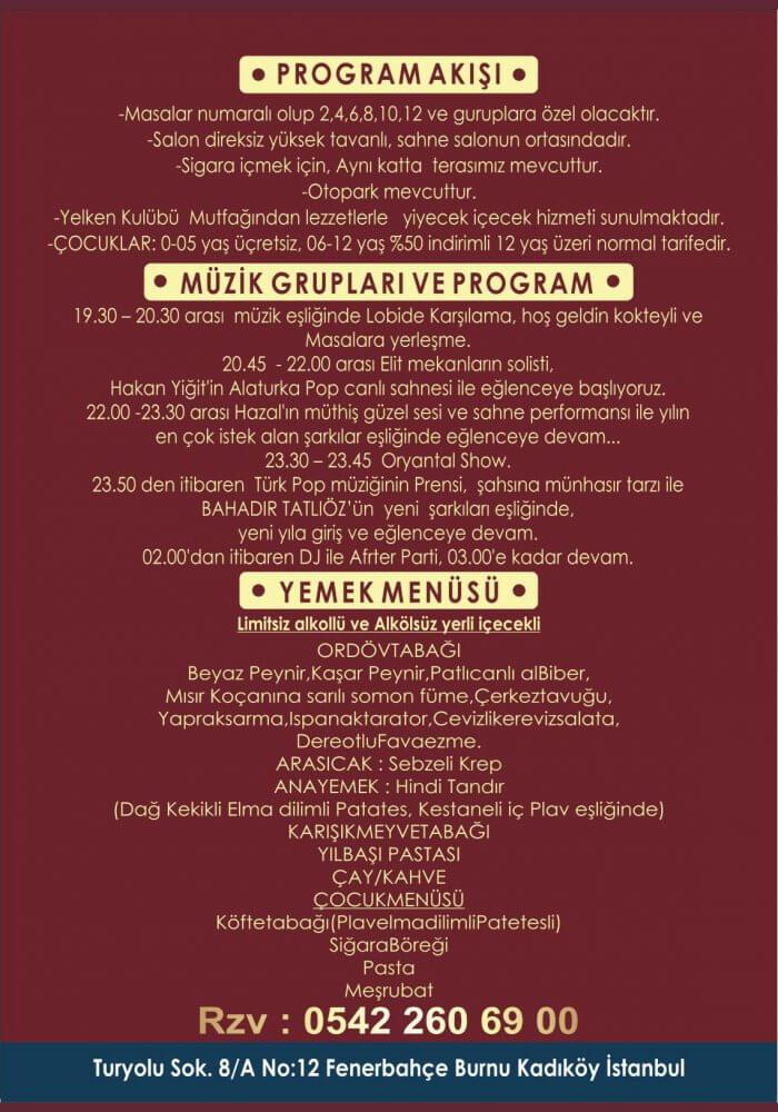 Kadıköy Fenerbahçe Yılbaşı 2019 - İstanbul Yelken Kulübü 2019 Yılbaşı Programı