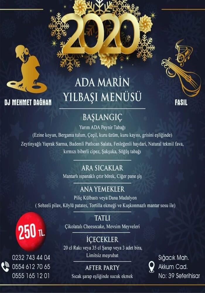 İzmir Ada Marin Hotel Sığacık Yılbaşı Programı 2020