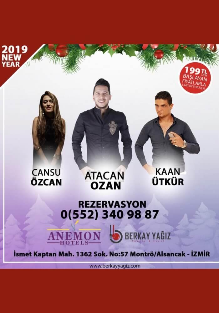 İzmir Alsancak Anemon Fuar Hotel 2019 Yılbaşı Programı