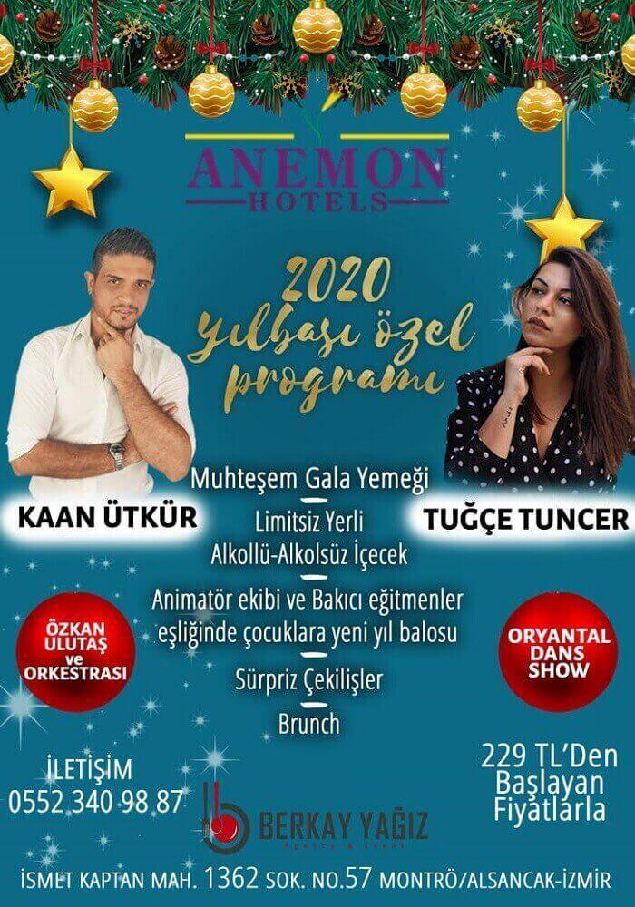İzmir Alsancak Anemon Fuar Hotel Yılbaşı Programı 2020