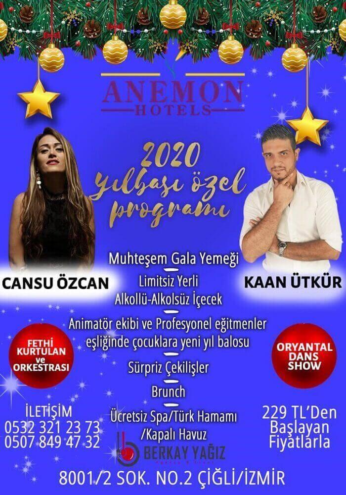 İzmir Anemon Çiğli Hotel Yılbaşı Programı 2020
