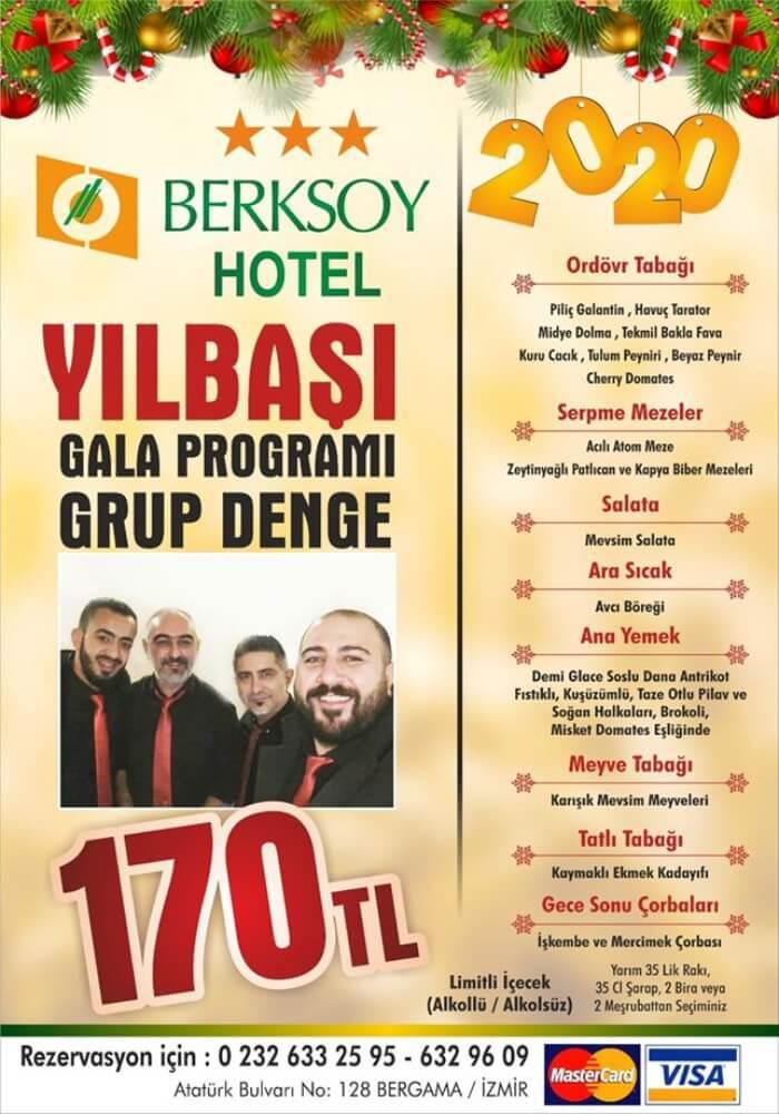 İzmir Berksoy Hotel Yılbaşı Programı 2020