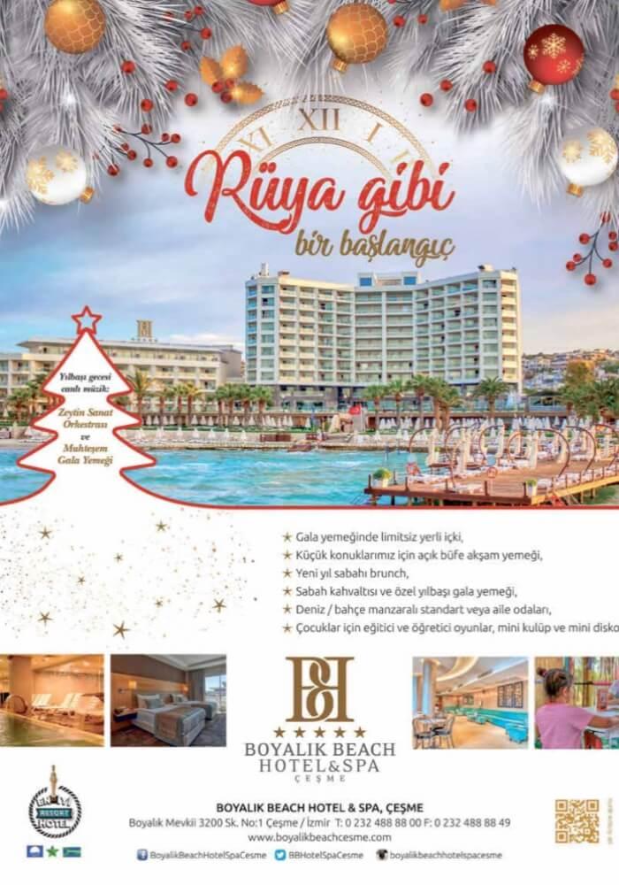 İzmir Boyalık Beach Hotel Çeşme Yılbaşı Programı 2020