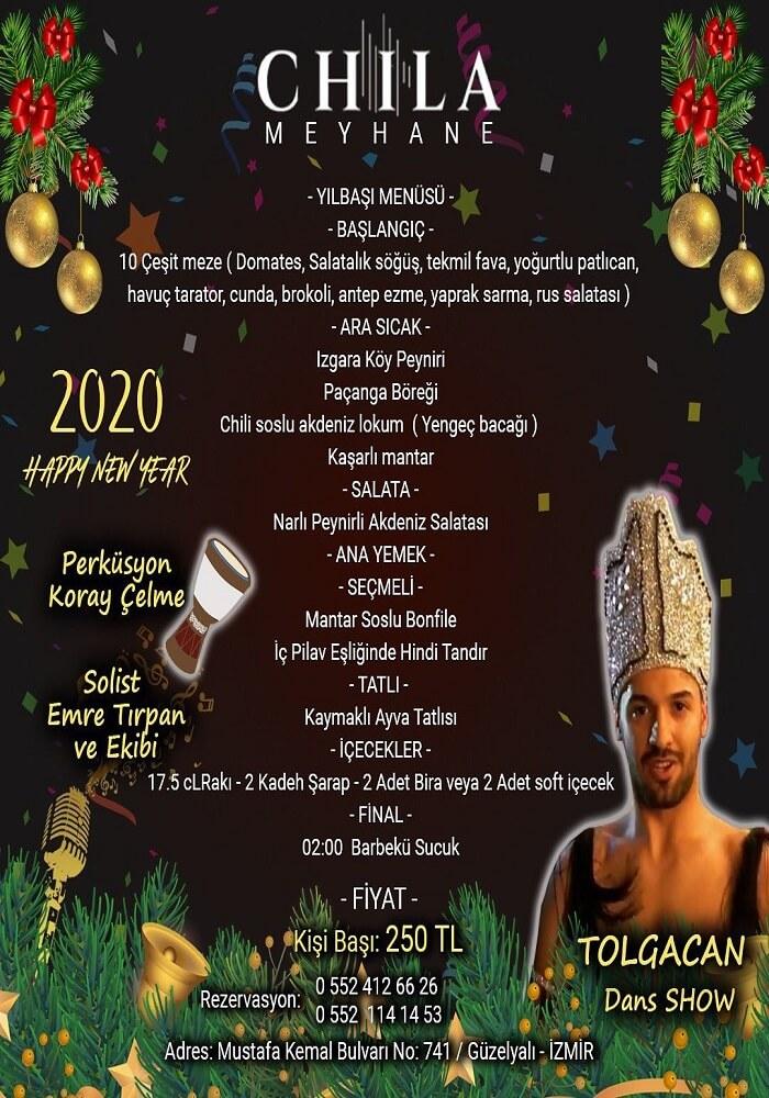 İzmir Chila Meyhane Yılbaşı Programı 2020