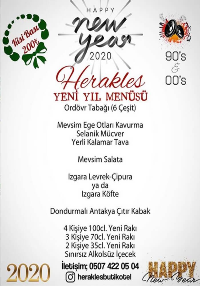 İzmir Herakles Butik Otel Restaurant Yılbaşı Programı 2020