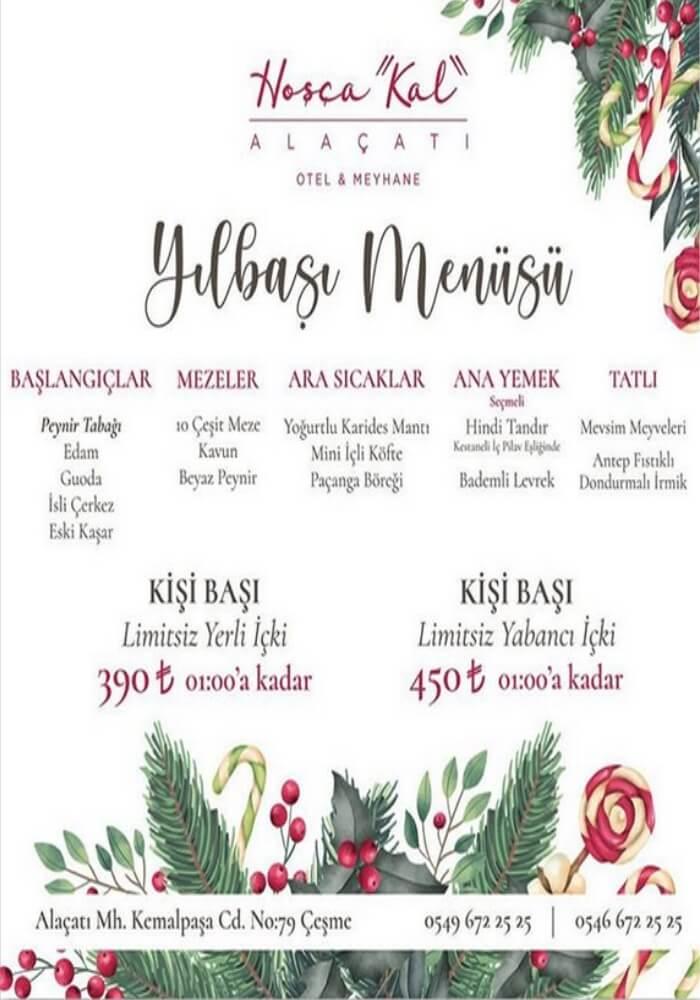 İzmir Hoşçakal Alaçatı Otel Meyhane Yılbaşı Programı 2020