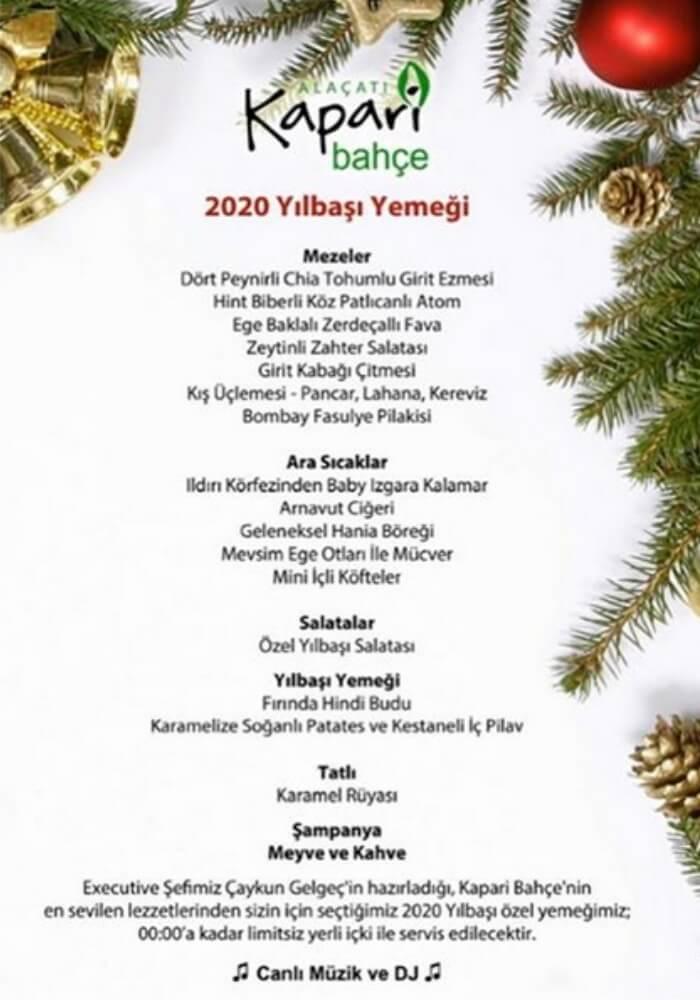 İzmir Kapari Bahçe Yılbaşı Programı 2020