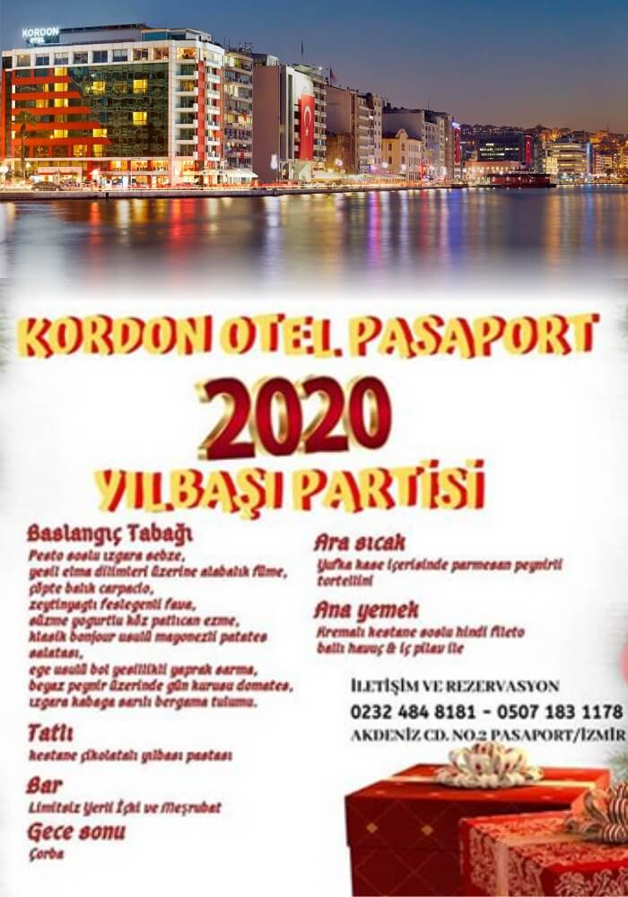 İzmir Kordon Otel Pasaport Yılbaşı Programı 2020