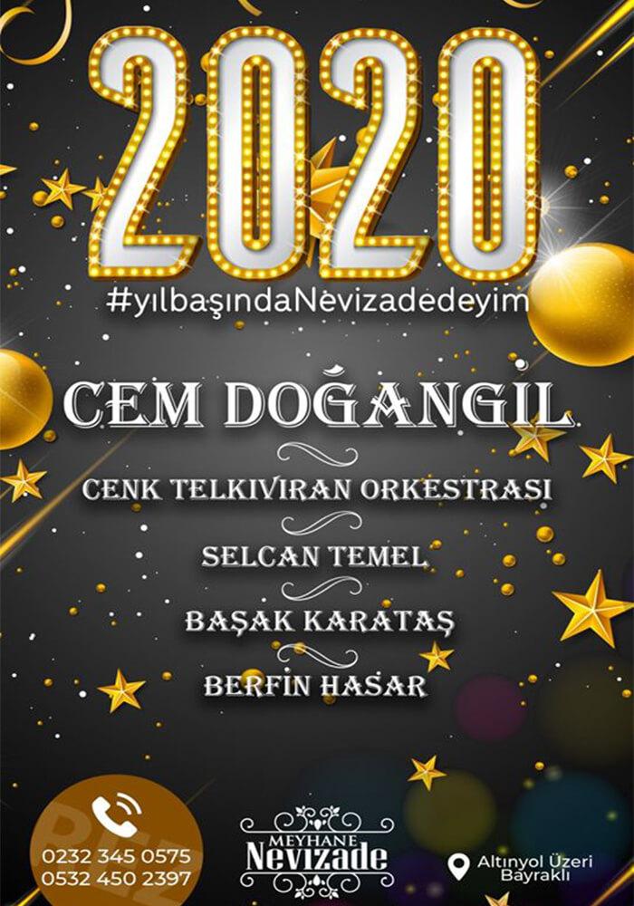 İzmir Meyhane Nevizade Yılbaşı Programı 2020