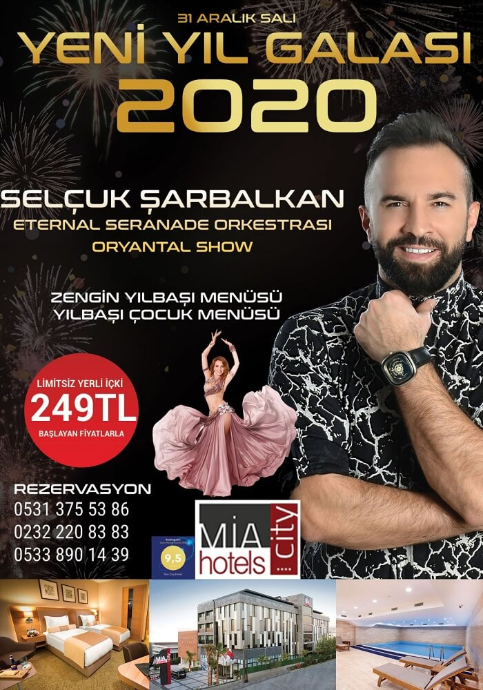 İzmir Mia City Hotel Yılbaşı Programı 2020