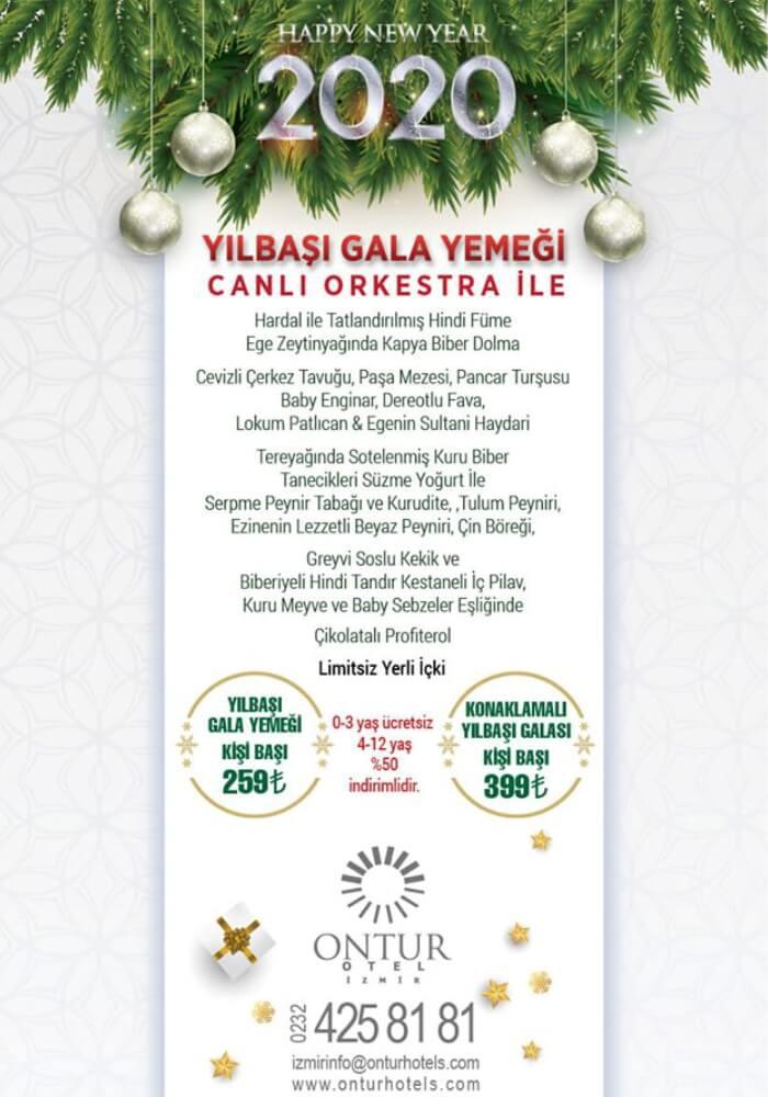 İzmir Ontur Otel Yılbaşı Programı 2020
