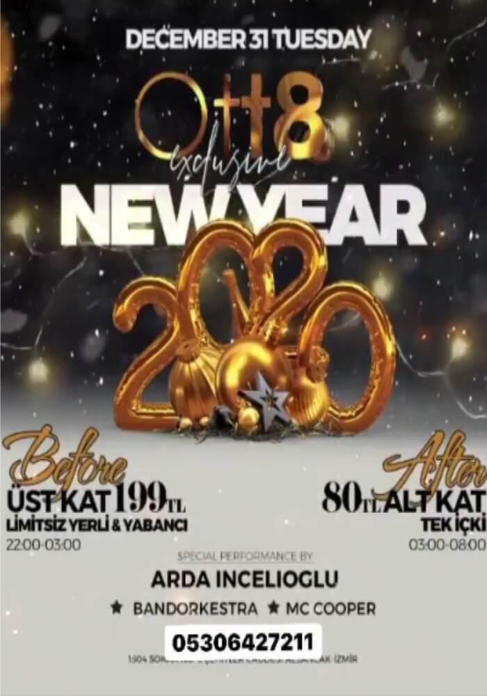 İzmir OTT8 After Club Yılbaşı Programı 2020