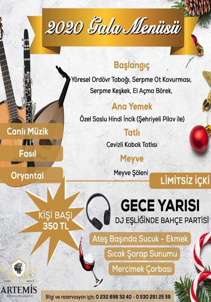 İzmir Şirince Restaurant Yılbaşı Programı 2020