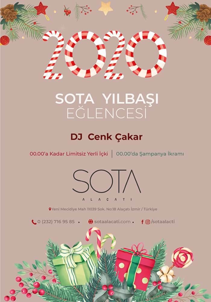İzmir Sota Alaçatı Restaurant 2020 Yılbaşı Programı