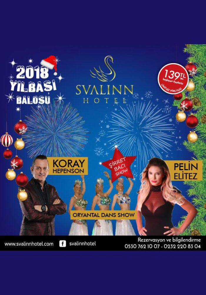 İzmir Svalinn Otel Yılbaşı 2018