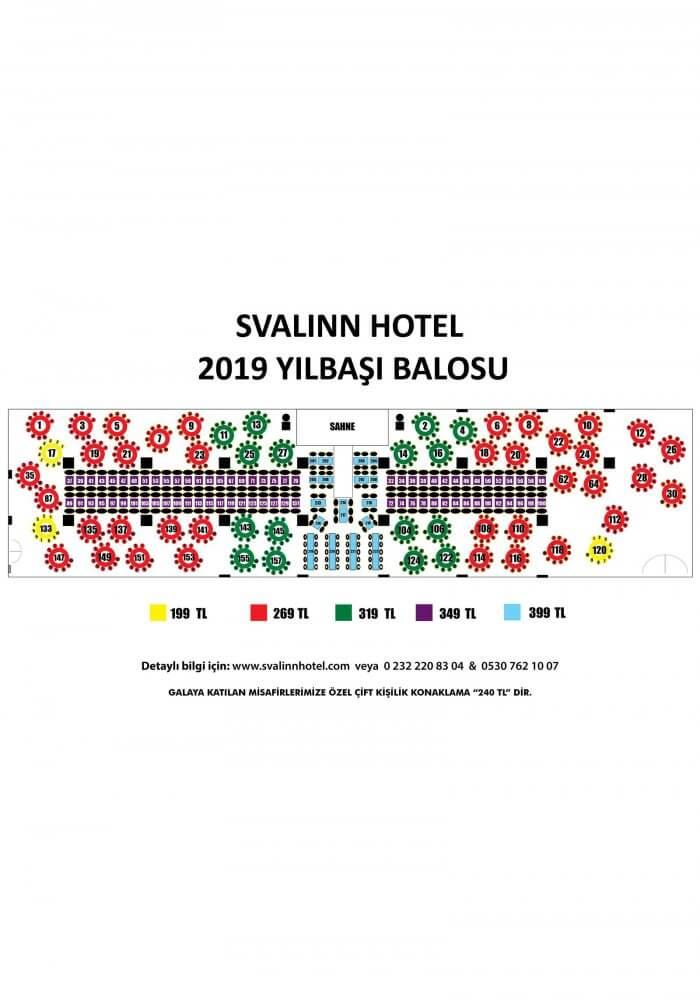 İzmir Svalinn Otel Yılbaşı 2019 - İzmir Gaziemir Yılbaşı 2019