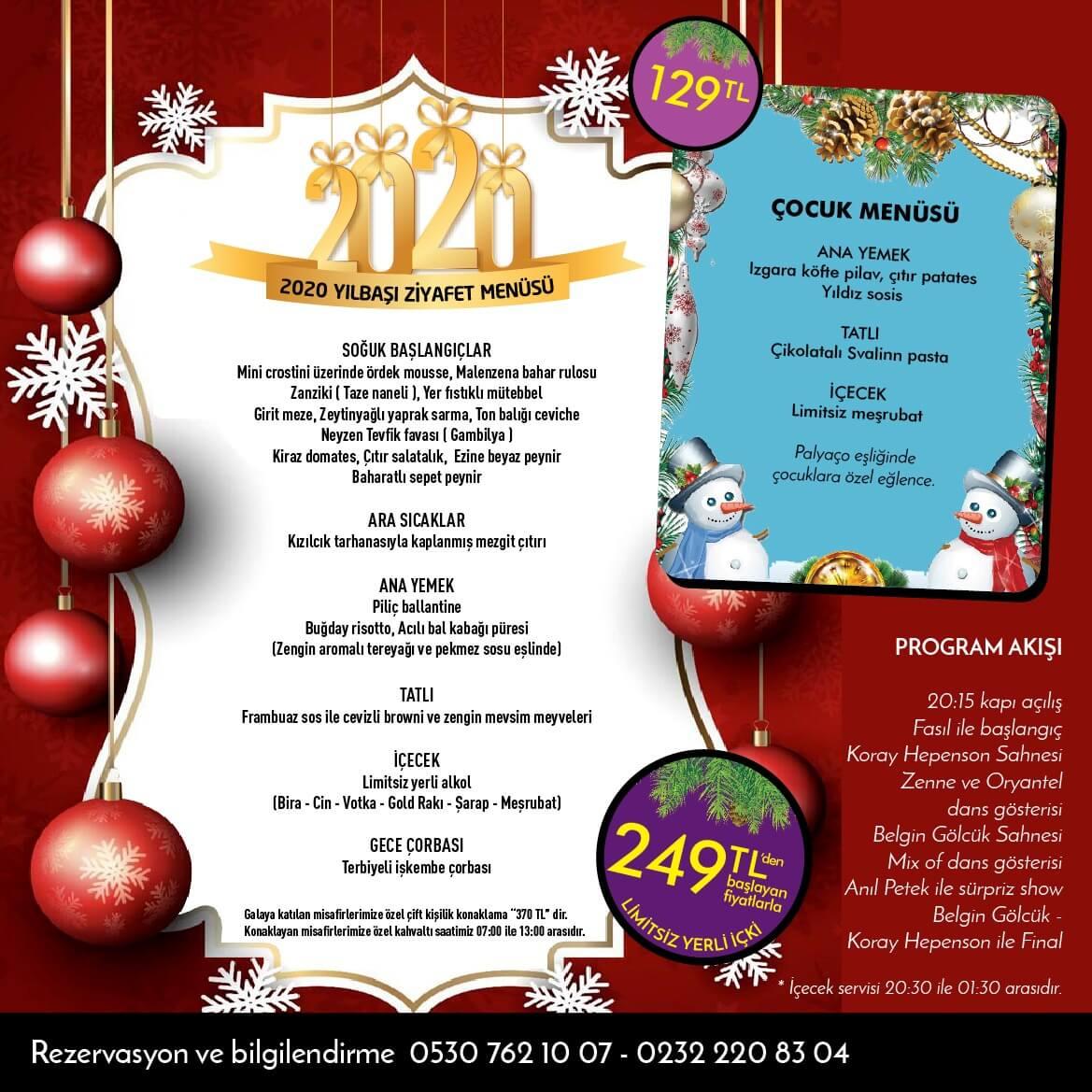 İzmir Svalinn Otel Yılbaşı Programı 2020