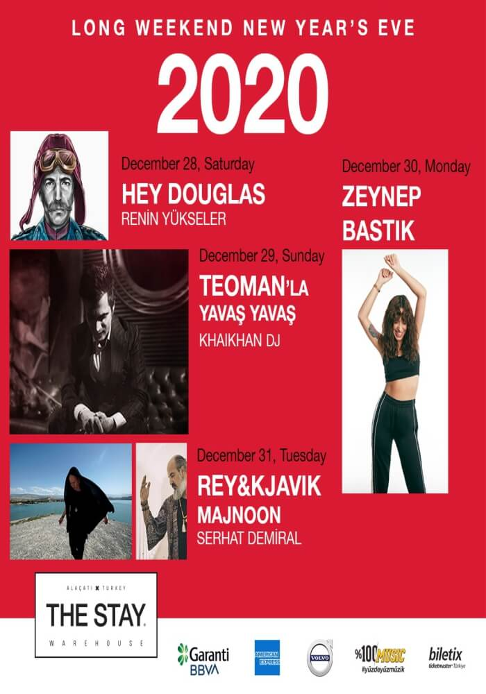İzmir The Stay Alaçatı Warehouse Yılbaşı Programı 2020