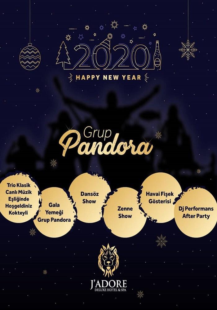 Jadore Deluxe Hotel Side Antalya Yılbaşı Programı 2020