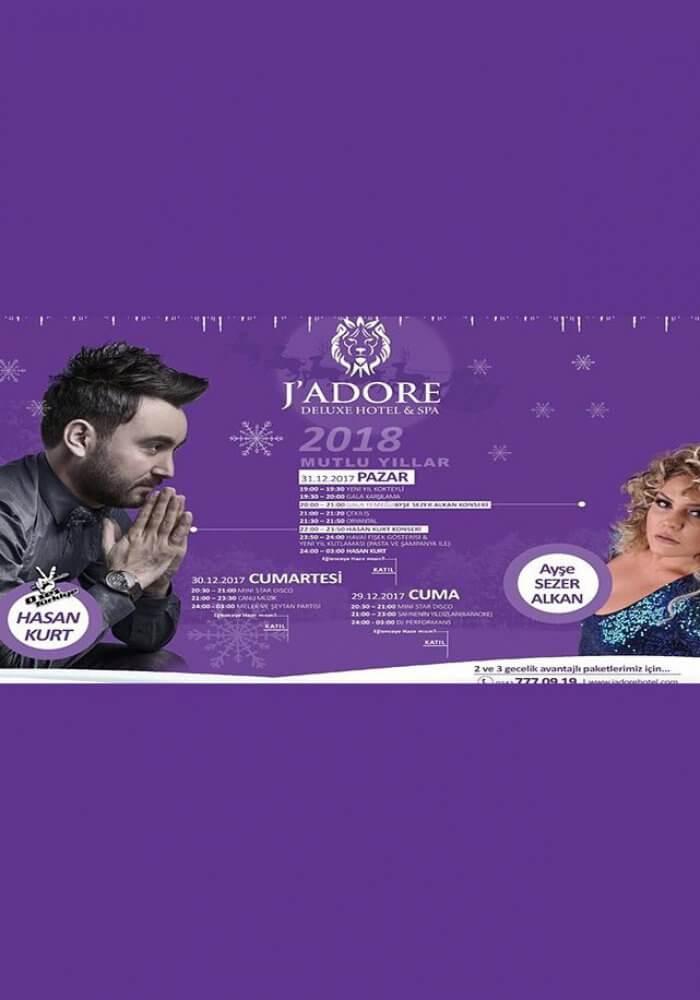 Jadore Deluxe Hotel Side Yılbaşı 2018