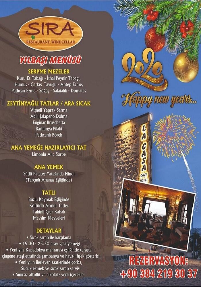 Kapadokya Şıra Restaurant Yılbaşı Programı 2020