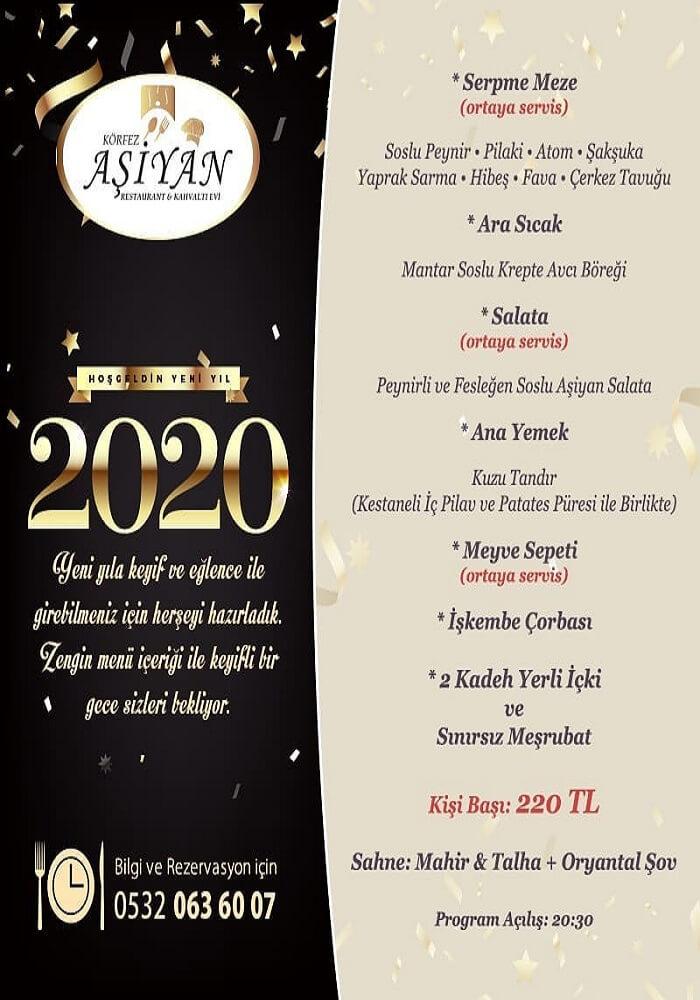 Körfez Aşiyan Restaurant Antalya Yılbaşı Programı 2020