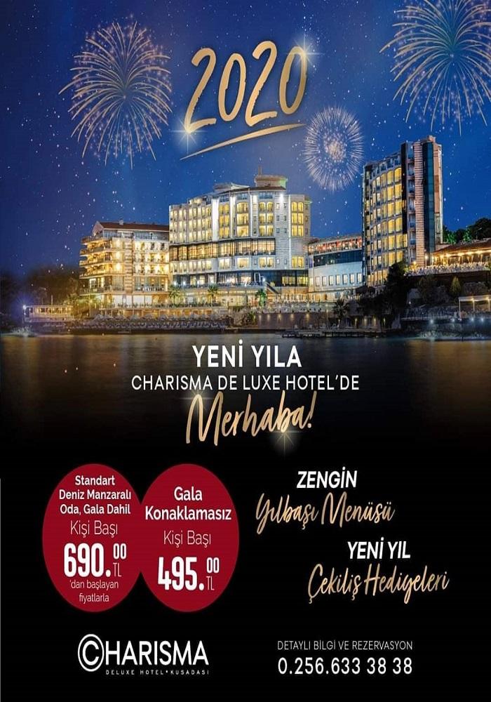 Kuşadası Charisma De Luxe Hotel Yılbaşı Programı 2020