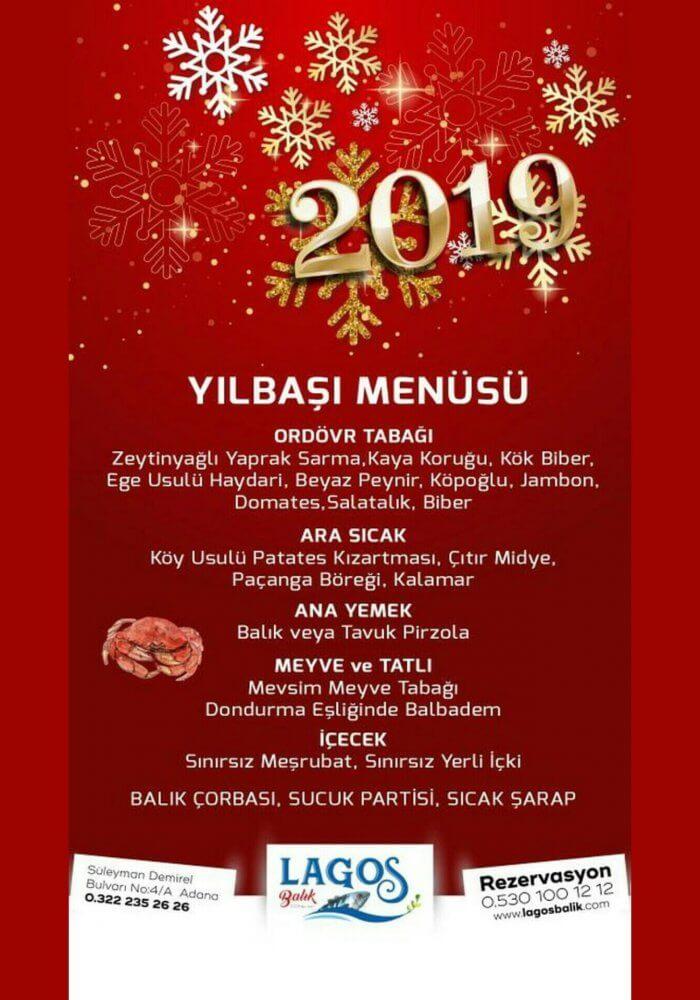 Adana Lagos Balık Restaurant 2019 Yılbaşı Programı - İzmir Yılbaşı 2019