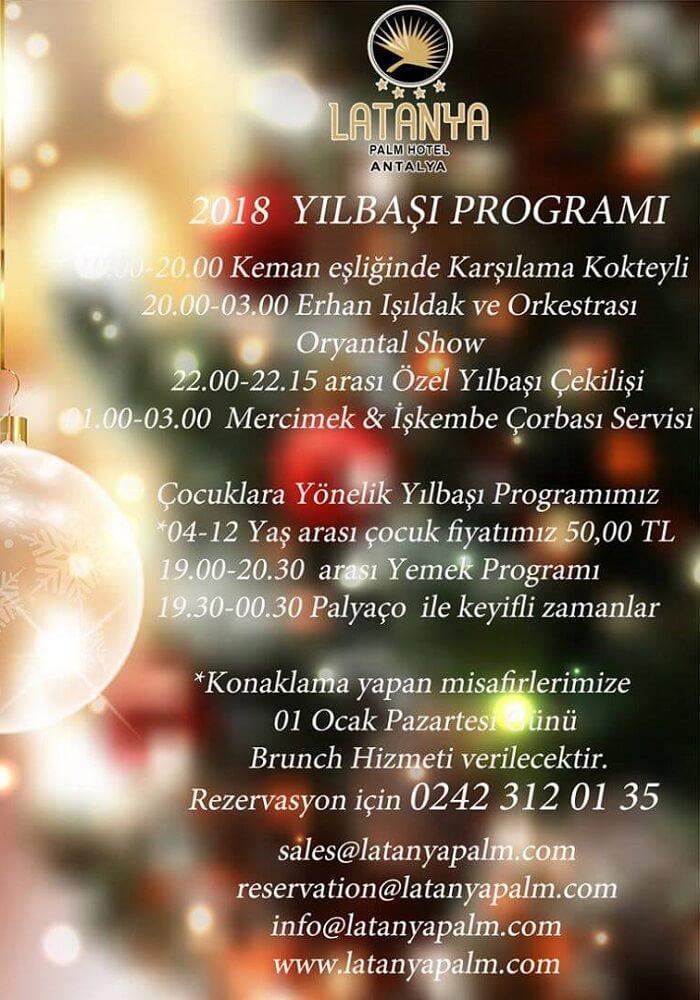 Latanya Hotel Antalya Yılbaşı 2018