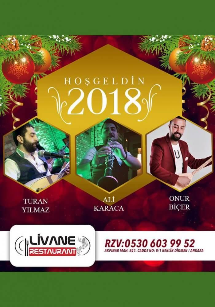 Livane Restaurant Yılbaşı 2018