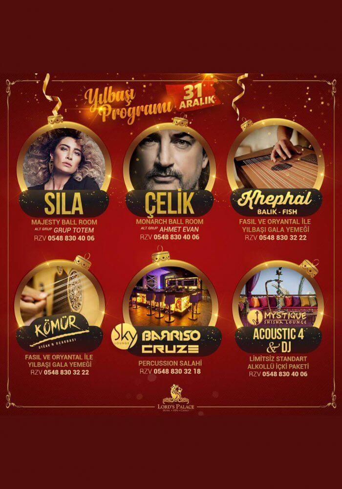 Lords Palace Hotel Spa Casino Yılbaşı 2018