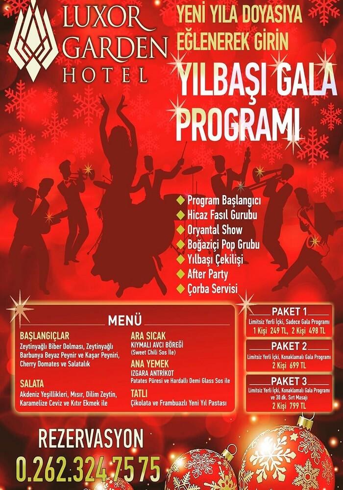 Luxor Garden Hotel Kocaeli Yılbaşı Programı 2020