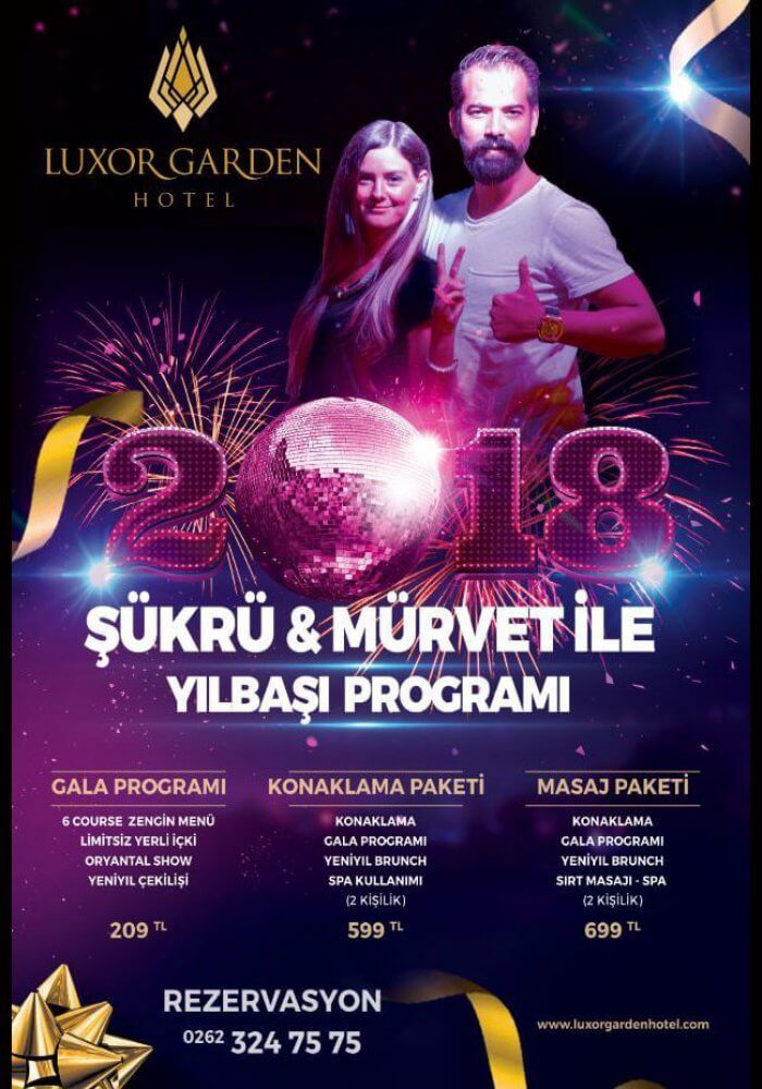Luxor Garden Hotel Yılbaşı 2018