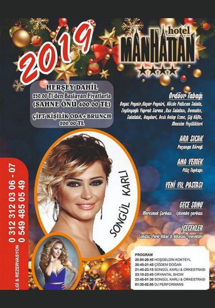 Manhattan Hotel Ankara Yılbaşı Programı 2019