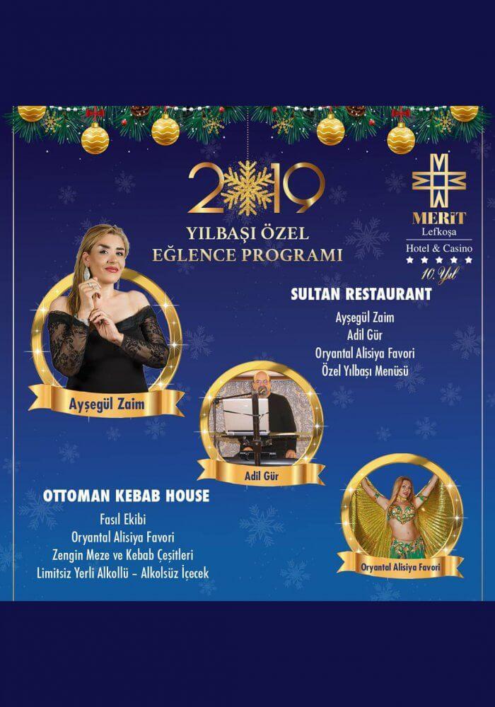Merit Lefkoşa Hotel & Casino 2019 Yılbaşı Programı